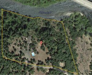 Ann overhead view of Durene's property
