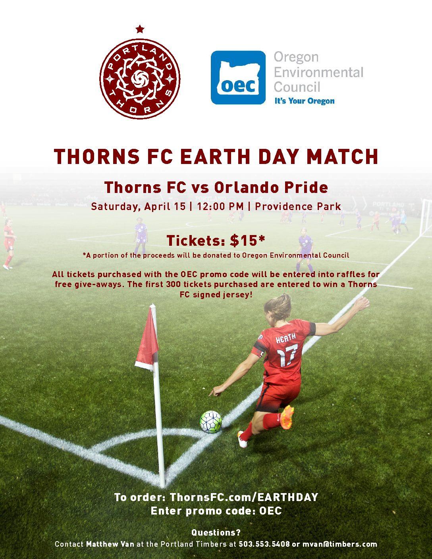 Portland Thorns FC EARTH DAY Match with OEC | Oregon