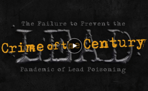 Title slide for a short film called Crime of the Century