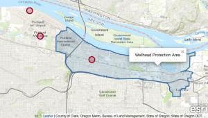 Map showing locations of PFAS contamination in NE Portland