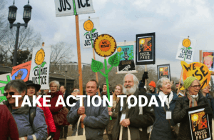 Photo of people marching for climate justice