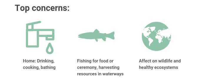 Toxics in Water - Top Concerns graphic