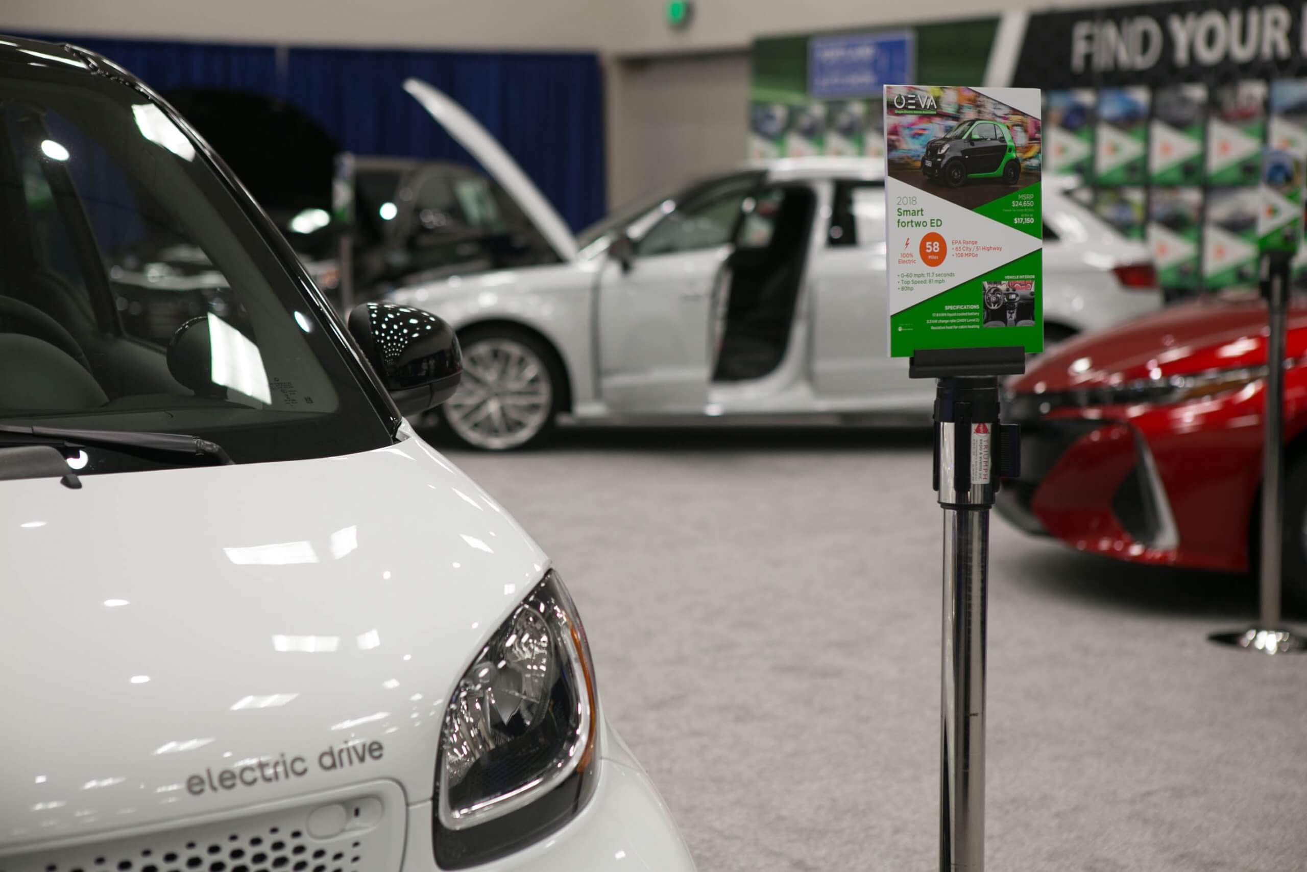 electric vehicle for sale at PDX Autoshow
