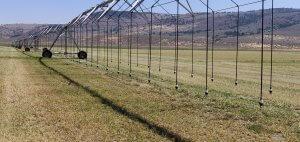Big irrigation system over a farm