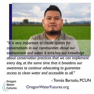 Community quote from the Oregon Water Futures Project
