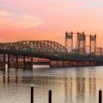 I-5 Interstate Bridge between Oregon and Washington